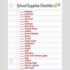 Save Money  Make A Back To School List  Crayons, School And Lockers