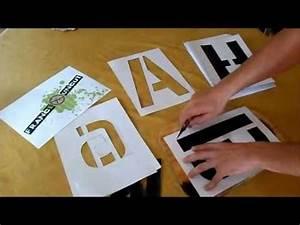realise un alphabet en pochoir youtube With pochoir industriel pour peinture