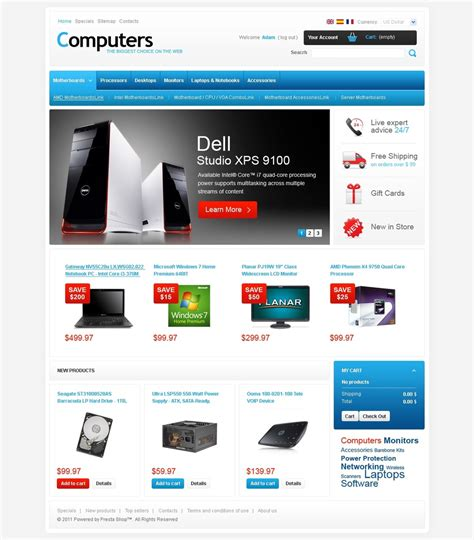 la mejor tienda template drupal tema de prestashop 32937 para sitio de tienda de ordenadores