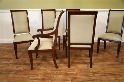 Dining Chairs For Sale by Set Of 8 Solid Mahogany Transitional Dining Room Chairs Sale