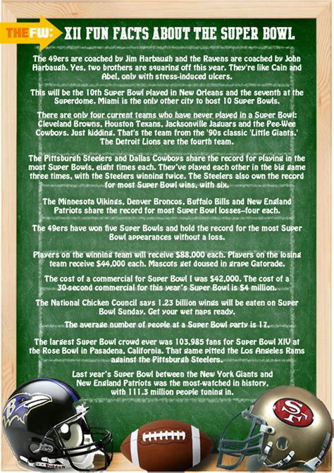Superbowl Fun Facts