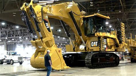ton caterpillar  excavator moving   minexpo  youtube
