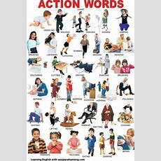 Action Verbs Learning Action Words Grammar