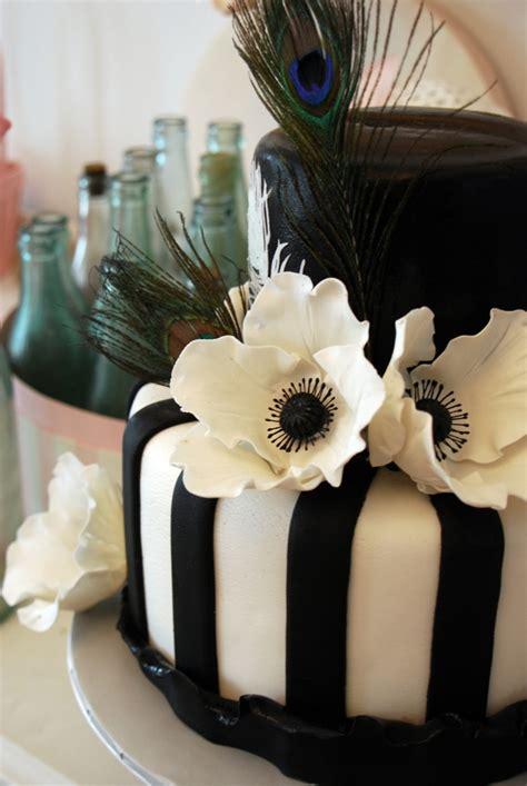 black  white peacock cakecentralcom
