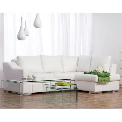 canape cuir blanc angle photos canapé d 39 angle cuir blanc