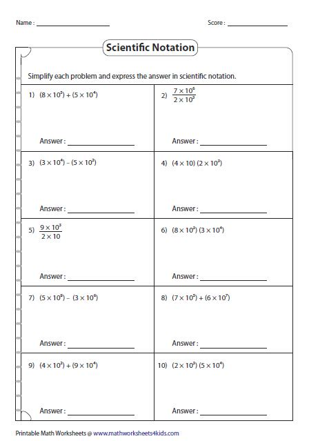 math operations in scientific notation 7th grade math