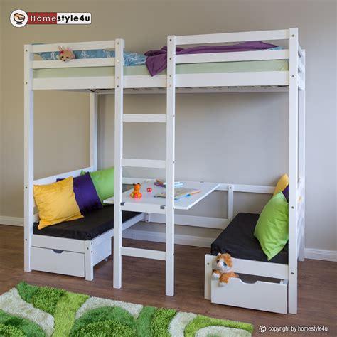 Łóżko Młodzieżowe Dziecięce Piętrowe 90x200 Z Biurkiem