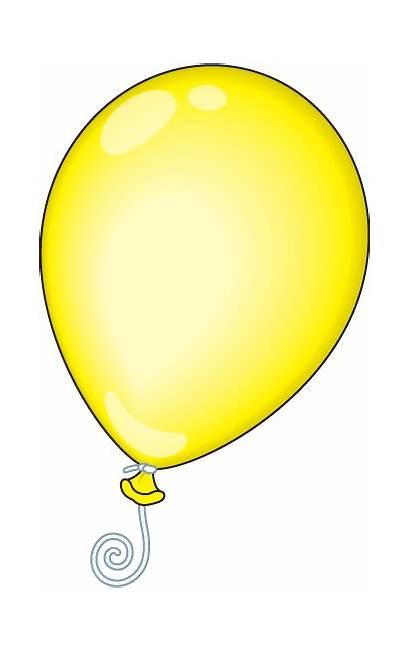 Balloon Yellow Clipart Balloons Oval Clip Cliparts