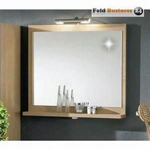Spiegelschrank Mit Ablage : trendteam mi40121 badezimmerspiegel mit ablage rauchsilber nachbildung bxhxt 72 x 57 x 17 cm ~ Watch28wear.com Haus und Dekorationen