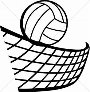 Volleyball in Black and White | Clipart Panda - Free ...