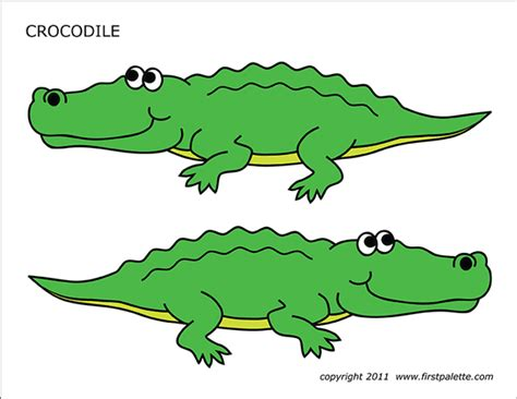 crocodile  printable templates coloring pages