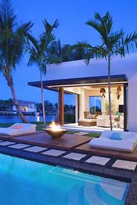 Modern Back Yard Outdoors Palm Trees Pool Mansion Mountains Luxury Homes Back Yard Pool Ideas
