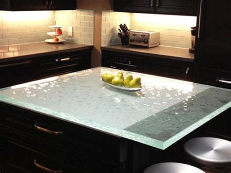 New Trends In Kitchen Countertops by Modern Glass Kitchen Countertop Ideas Trends In