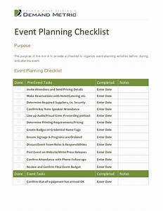 event planning checklist With event planning tools templates