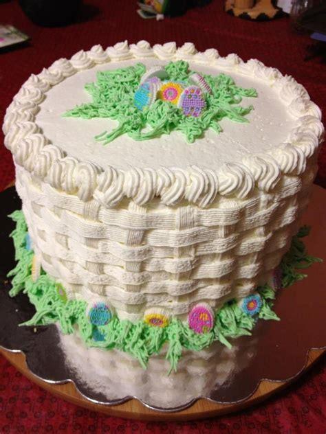 easter basket weave designed cake cakes