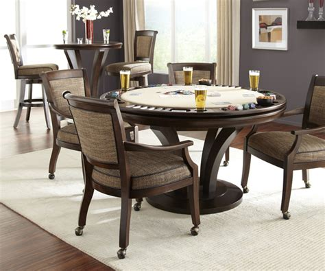 round poker table with dining antique games chairs available in 42 quot 48 quot 54 quot 60 quot and
