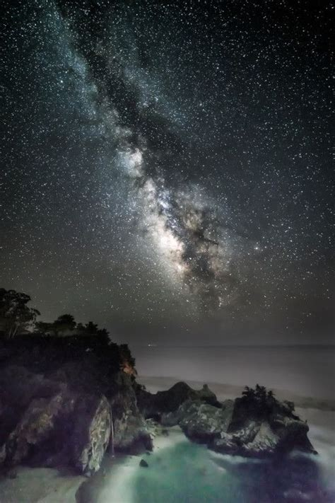Milky Way Above Mcway Falls Big Sur California Star