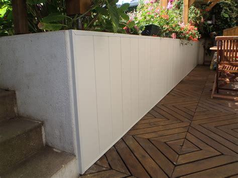 habillage mur exterieur en habillage d un mur pvc hazo bois jardins en images