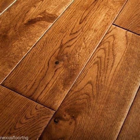 18mm x 125mm Hand Scraped Tobacco Oak Solid Flooring Real