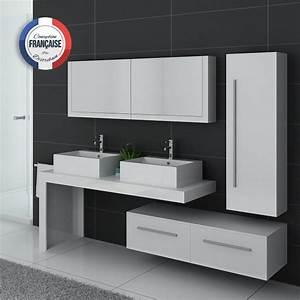 Prix Meuble Salle De Bain : meuble de salle de bain blanc double vasque meuble double vasque design dis9350b ~ Teatrodelosmanantiales.com Idées de Décoration