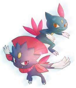 Pokemon Weavile and Sneasel