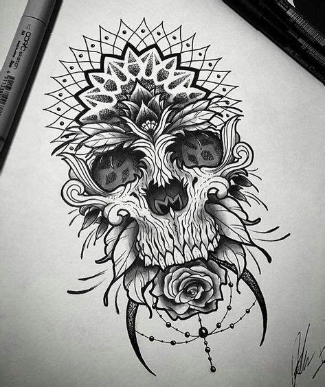 Pin Roam Art Tattoos Skull Mandala Tattoo