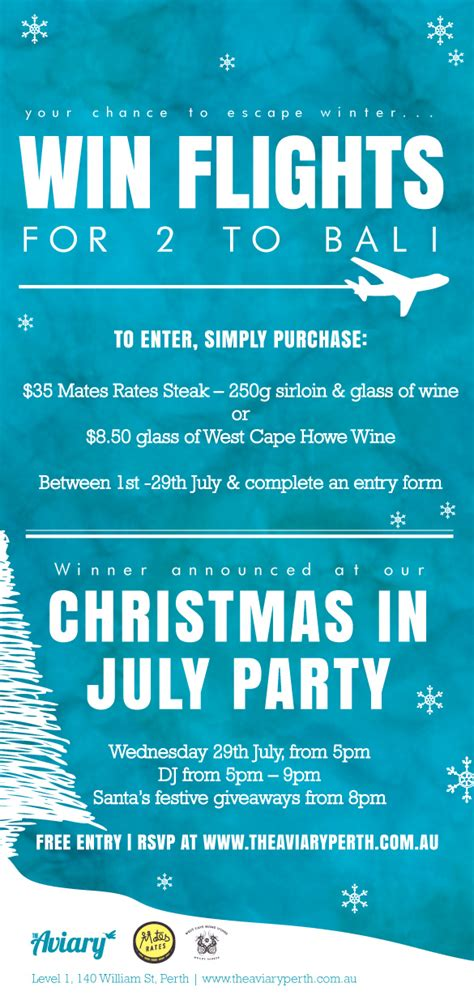christmas in july party perth