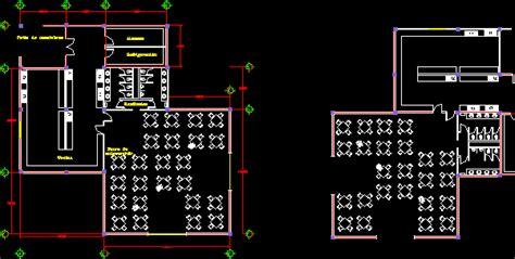 levels restaurant  floor plans  dwg design plan