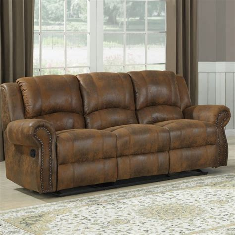 microfiber reclining sofa with console microfiber reclining sofa from sears com