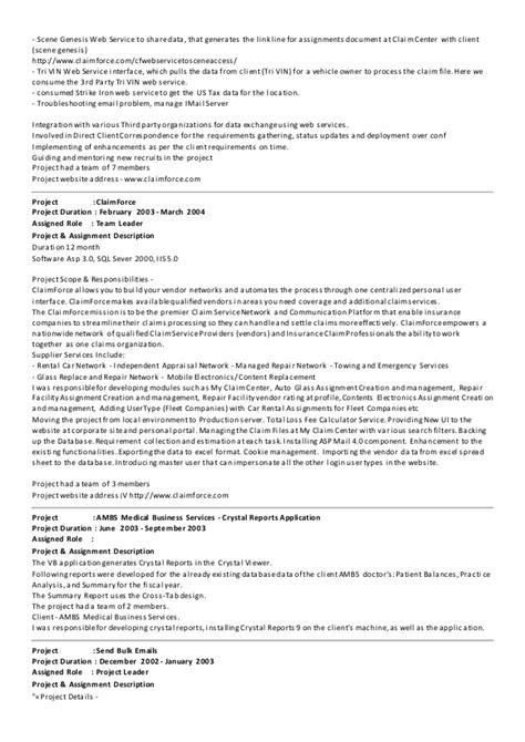 sample resume  dot net developer experience  years researchonwebfccom