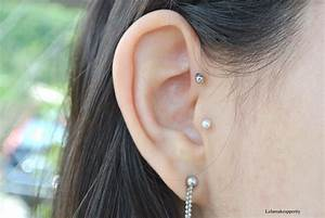 Piercing Anti Helix Bijoux Double Lobe Tragus Anti Helix Tattoo