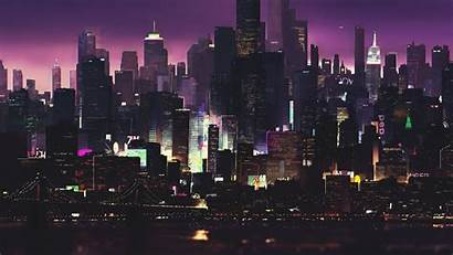 Cyberpunk 4k Night Buildings Futuristic Cityscape Building