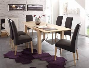 Sonoma Eiche Stühle : tischgruppe eiche sonoma tisch tim 140 220 x90 6 st hle robin grau wohnbereiche esszimmer ~ Markanthonyermac.com Haus und Dekorationen