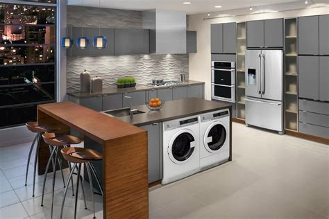 compact laundry machines for apartments with kitchen showers