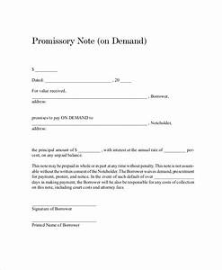 promissory note template 15 free word pdf document With promissory letter template
