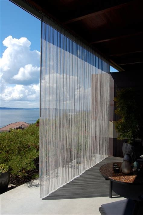 outdoor stainless steel curtain industrial patio