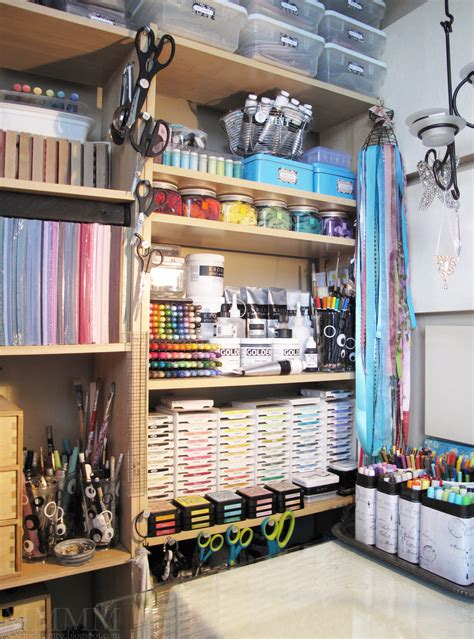 Mel Stampz Craft Room Pictures & Organizing Distress Inks