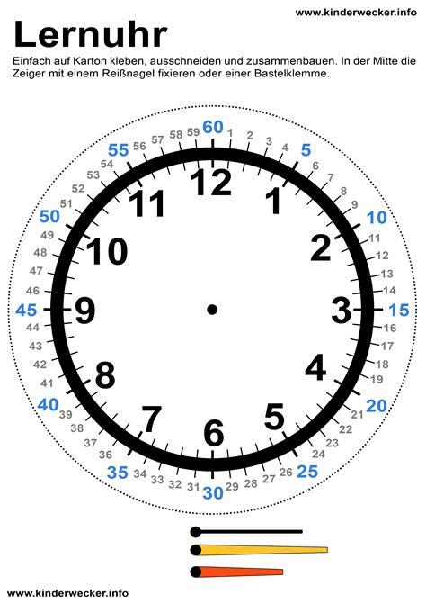Uhr Zum Basteln Kindern Uhren Lesen Beibringen Lernuhr Basteln Kinderwecker