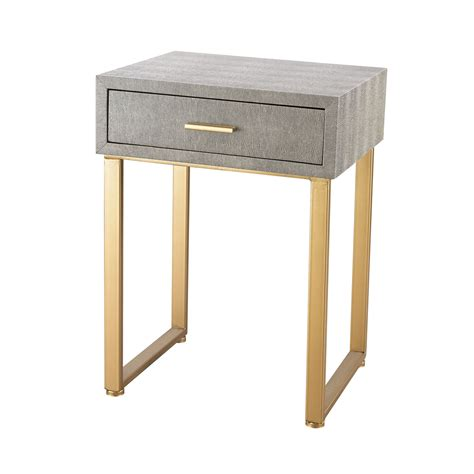 gold end table sterling industries beaufort gold grey accent table on 4876