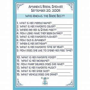 24 bridal shower game cards personalized who knows the With wedding shower games funny