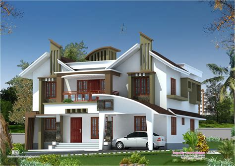 modern house elevation  kasaragod kerala home kerala plans