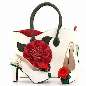 Shoe And Big Bag Set Fashion New Design Red Nigeria