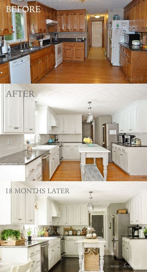 painting cabinets white before and after how to paint oak cabinets and hide the grain kitchen 143