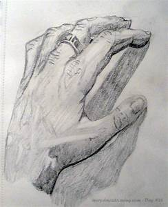 Day #020 – Drawing My Hand | Every Day A Drawing