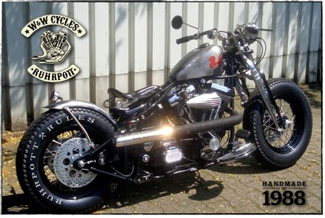 Harley Davidson Bobber Custombikes Old School Chopper