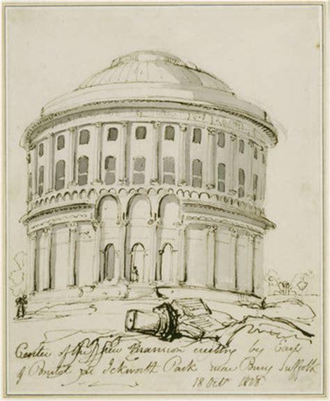 ink drawing   rotunda  ickworth ickworth