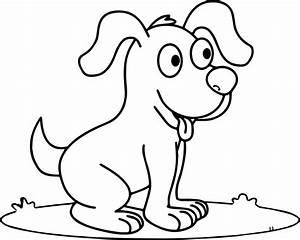 Cute Happy Smiling Puppy Puppy Dog Coloring Page ...