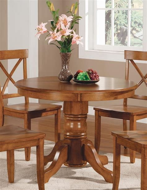 Home Styles 517930 Round Pedestal Dining Table Cottage