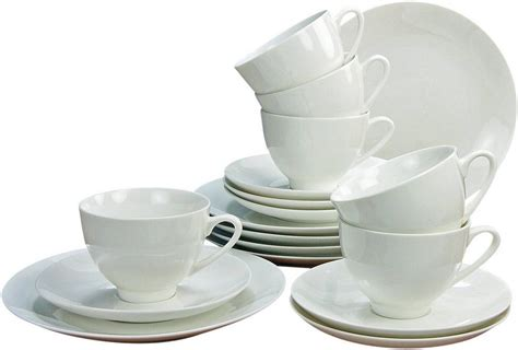 bone china geschirr creatable kaffeeservice bone china porzellan 18 teile