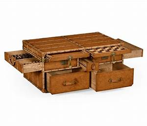 rustic pine trunk style rectangular lift top coffee table With chest type coffee tables